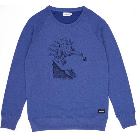 sweat SEAHORSE bleu