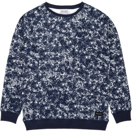 Sweatshirt en coton biologique (label Global Organic Textile Standard) avec un imprimé de l'artiste Camille Lassabe / Pil Pil Studio.