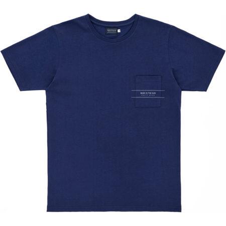 Tee shirt pour homme en coton biologique (label Global Organic Textile Standard). Conçu à Guéthary (Pays Basque). Fabriqué au Portugal