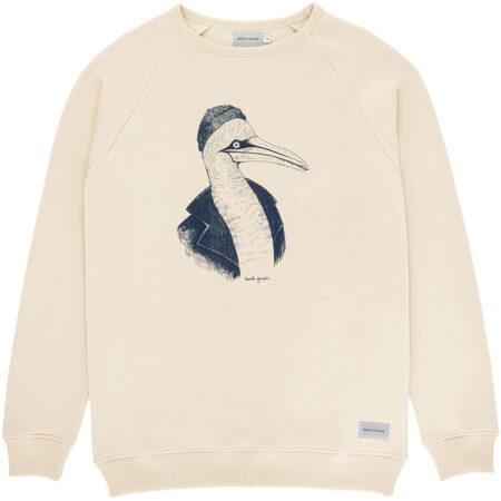 Sweatshirt en coton biologique (label Global Organic Textile Standard) avec un imprimé de l'artiste Daniela Garreton. Fabriqué au Portugal