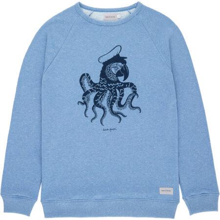 Sweatshirt pour homme en coton avec un imprimé de l'artiste Daniela Garreton. Fabriqué au Portugal